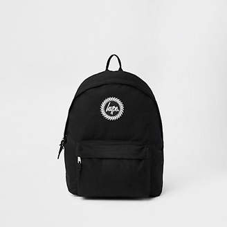 Hype black embroidery backpack