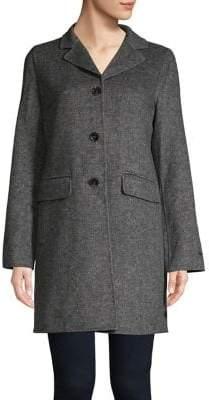 Tahari Collared Wool-Blend Coat