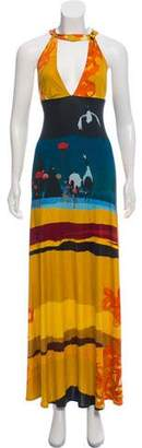 Christian Lacroix Abstract Print Maxi Dress