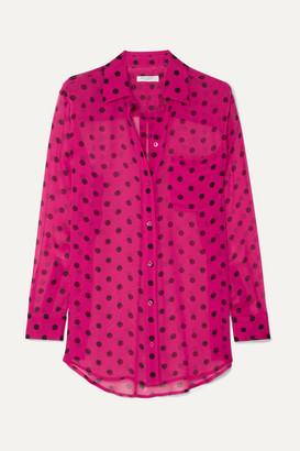 d6d2e607a3c822 Equipment Polka-dot Silk-chiffon Shirt - Pink
