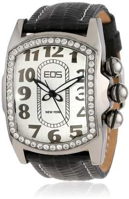 EOS New York Women's Quartz Metal and Leather Casual Watch