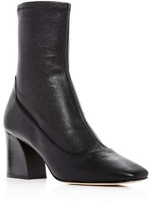 Donald J Pliner Women's Gerrie Leather High Block-Heel Booties