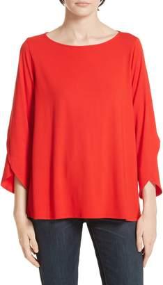 Eileen Fisher Asymmetrical Sleeve Top