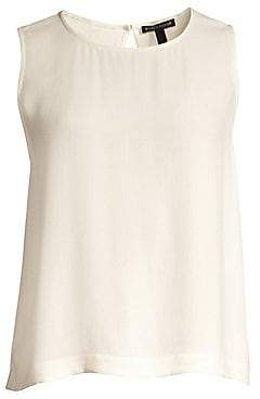 Eileen Fisher Women's System Silk Georgette Shell Tank