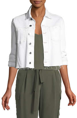 L'Agence Zuma Lace-Up Denim Jacket
