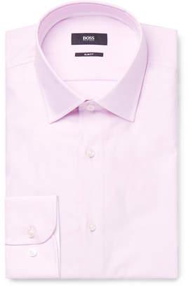 HUGO BOSS Pink Jesse Slim-Fit Cotton Oxford Shirt
