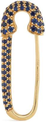 Anita Ko Yellow Gold and Blue Sapphire Safety Pin Single Earring