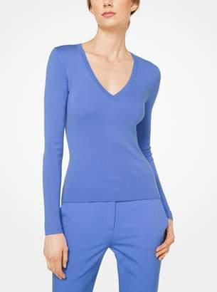 Michael Kors Cashmere V-Neck Pullover