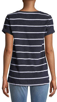 Marc Ny Performance Striped Short-Sleeve Terry Tee
