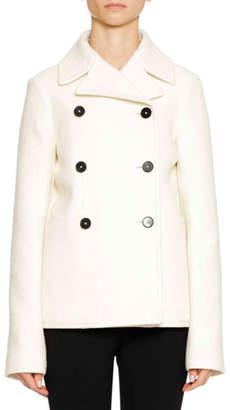 Jil Sander Six-Button Wool Pea Coat