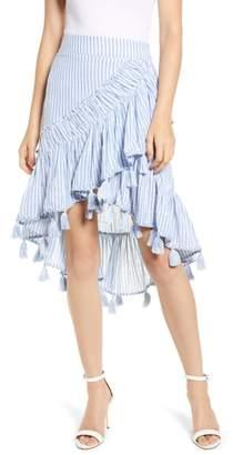 MISA LOS ANGELES Rosero Ruffle High/Low Skirt