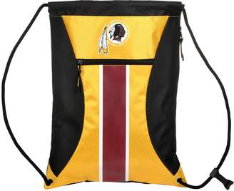 Redskins Forever Collectibles Washington Striped Zipper Drawstring Backpack