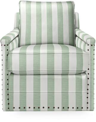 Serena & Lily Spruce Street Swivel Chair with Nailheads