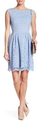 Vince Camuto Sheer Floral Lace Dress