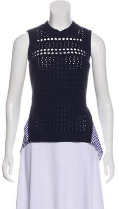 Veronica Beard Sleeveless Heavy-Knit Top