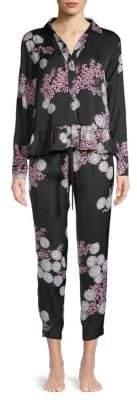 Josie Natori 2-Piece Floral-Print Pajama Set