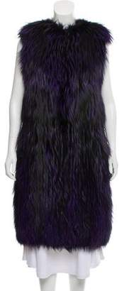 Prada Fur Long Vest