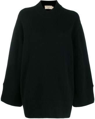 MAISON KITSUNÉ oversized zipped-sides jumper
