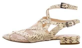 Alaia Embossed Slingback Sandals