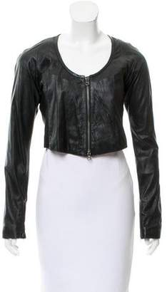 Ohne Titel Leather Crop Jacket