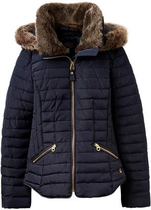Womens Fur Hood Padded Coats Shopstyle Uk