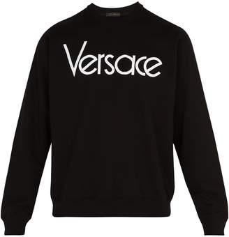 Versace 1990 logo-embroidered cotton sweatshirt