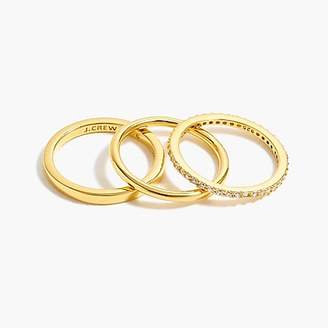 J.Crew Demi-fine 14k gold-plated three-ring set