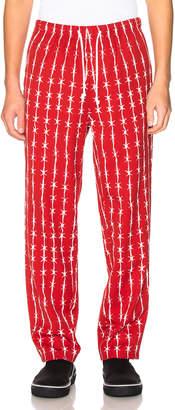 Warren Lotas Barbed Wire Pinstripe Gabardine Pajama Trouser