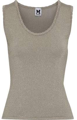 M Missoni Scalloped Metallic Jersey Tank