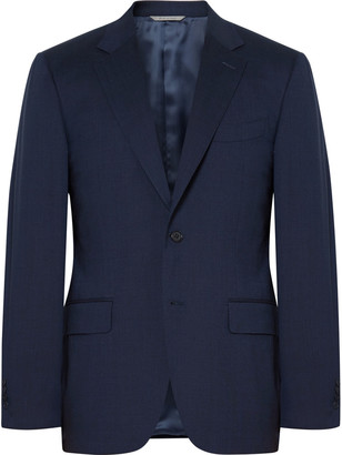 Canali Blue Stretch-Wool Suit Jacket $1,355 thestylecure.com