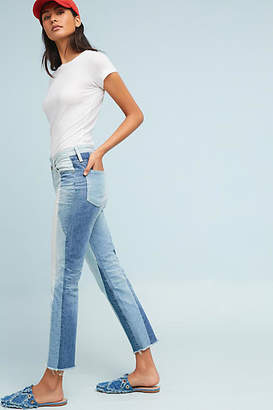 AG Jeans The Isabella Ultra High-Rise Cropped Straight Fray Jeans
