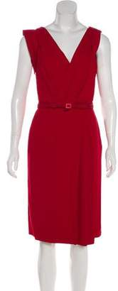 Christian Dior Belted Sleeveless Dress