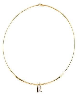 14K Diamond Slide Pendant Necklace