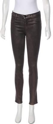 J Brand Metallic Mid-Rise Pants
