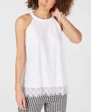 Charter Club Sleeveless Lace-Trim Top, Created for Macy's