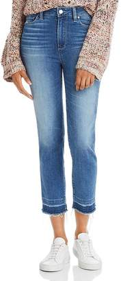 Paige Hoxton Slim Cropped Released-Hem Jeans in Plaza
