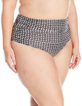 5195786a9c9 Coastal Blue Women s Plus Size Swimwear Shirred High Waist Bikini Bottom