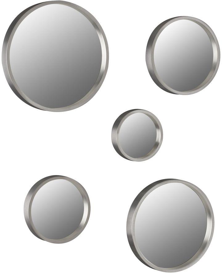Aluminum Mirrors Set Of Five