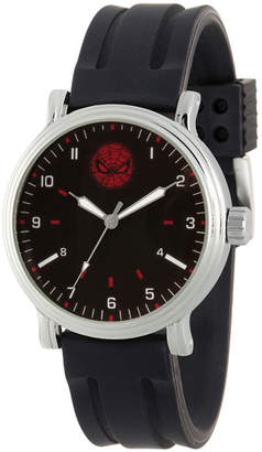 Marvel Spiderman Mens Black Strap Watch-Wma000266