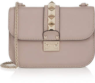 Valentino Garavani Lock Small Leather Shoulder Bag - Blush