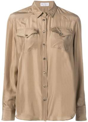 Brunello Cucinelli flap pocket shirt