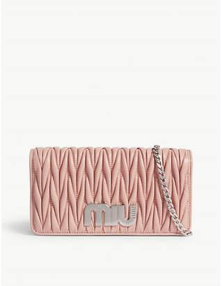 Miu Miu Matelassé leather wallet-on-chain