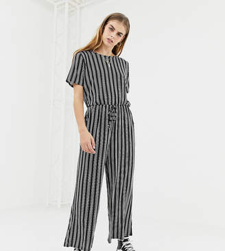 Daisy Street jumpsuit with drawstring waist in stripe