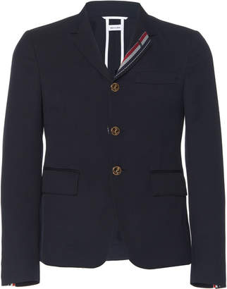 Thom Browne Stripe Lapel Wool-Blend Blazer