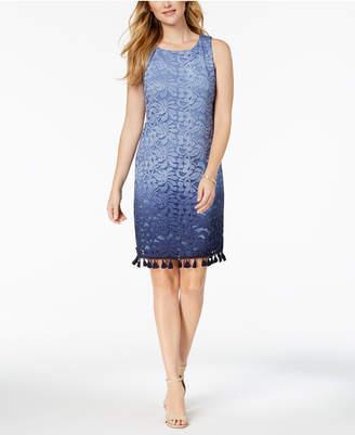 Jessica Howard Ombré-Lace Tassel Dress