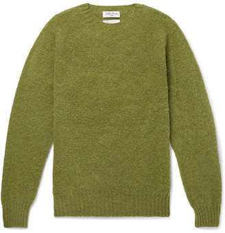 YMC Brushed-Wool Sweater - Men - Green