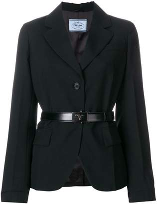 Prada belted blazer