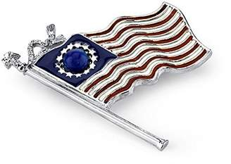 1928 Jewelry Made in America Hand-Enameled American Flag Pin