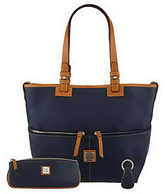 As Is Dooney & Bourke Pebble Leather Convertible Shopper $168 thestylecure.com