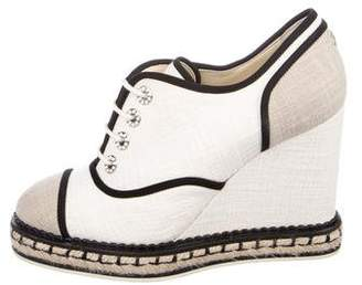 Chanel Gripoix Wedge Oxfords